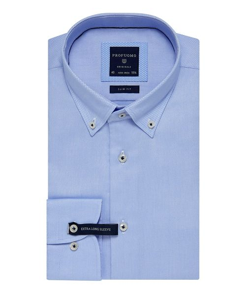 Casual Overhemd Slim Fit.Profuomo Light Blue Slim Fit Oxford Shirt Extra Ls Shirts
